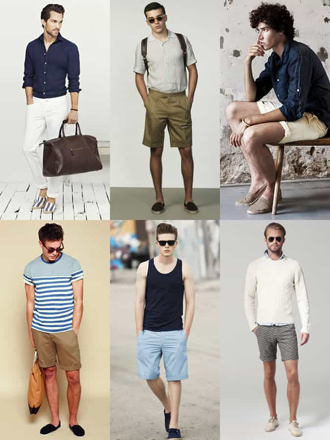 Men's Espadrilles Summer Holiday Outfit Inspiration Lookbook