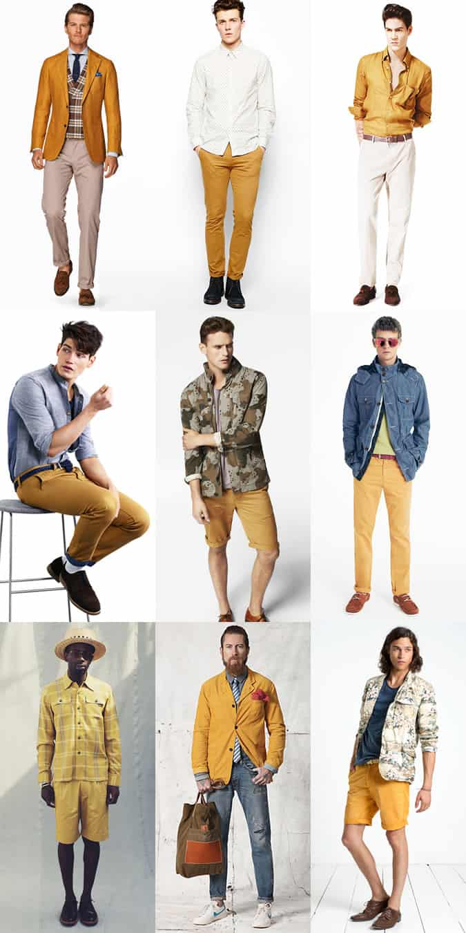 Men's Mustard Yellow Garments - Spring/Summer Outfit Inspiration Lookbook