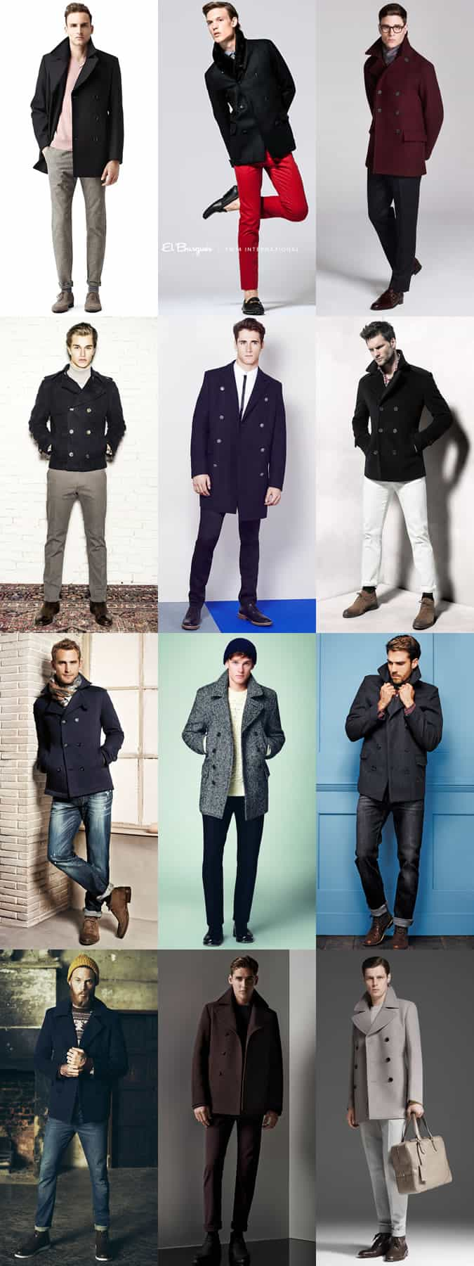 Men's Pea Coat Transitional Outfit Inspiration Lookbook
