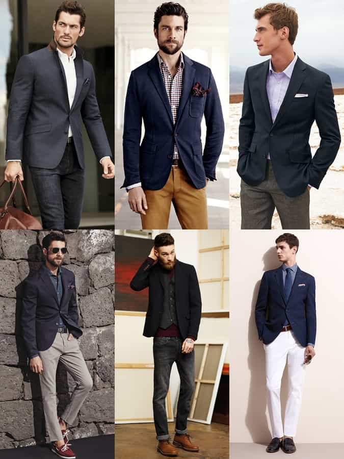 Men's Navy Blazer Outfit Inspiration Lookbook
