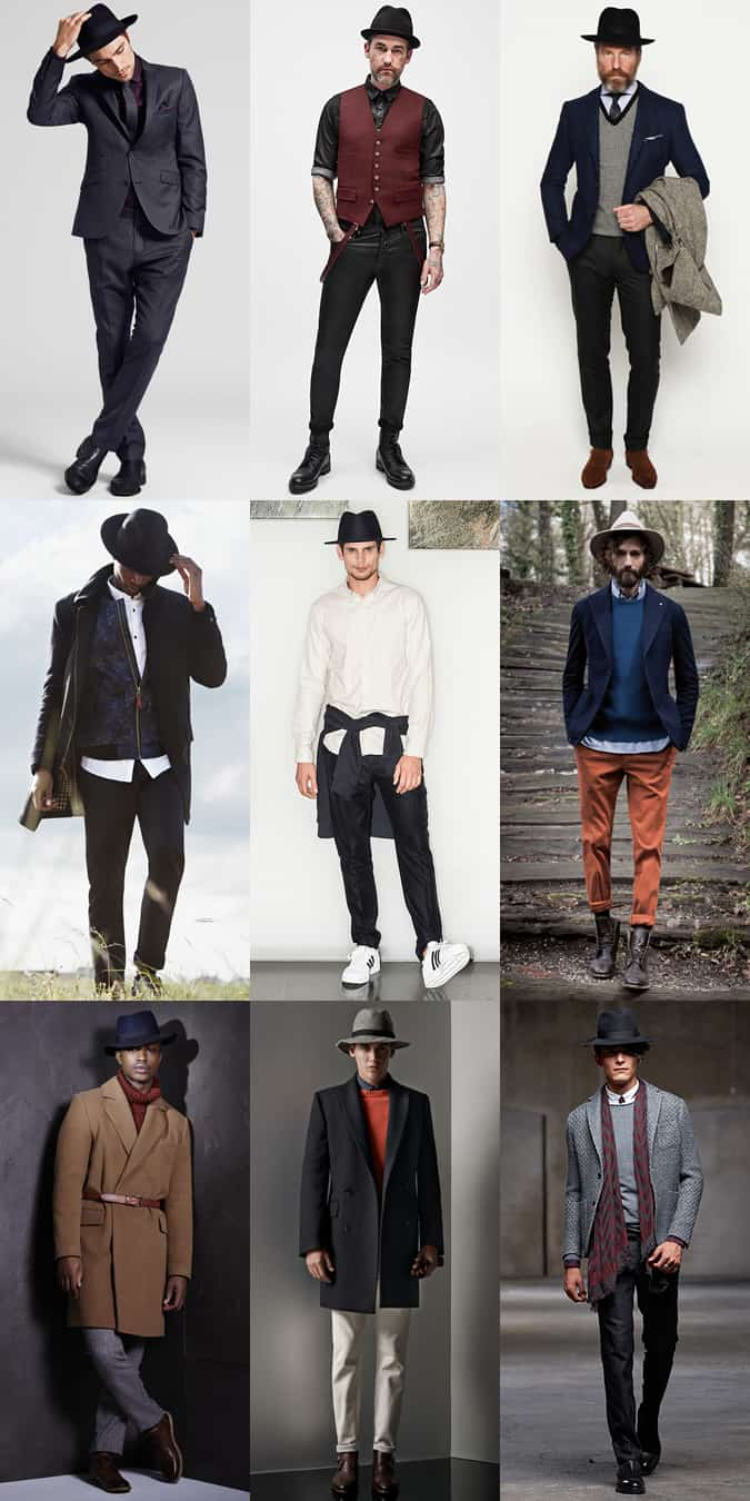 Men's Fedora Hat Outfit Inspiration Lookbook