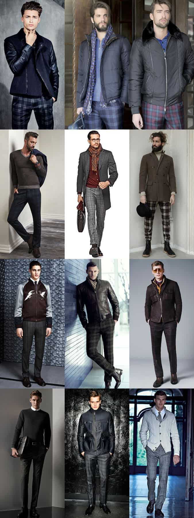 Men's Checked Trousers Outfit Inspiration Lookbook