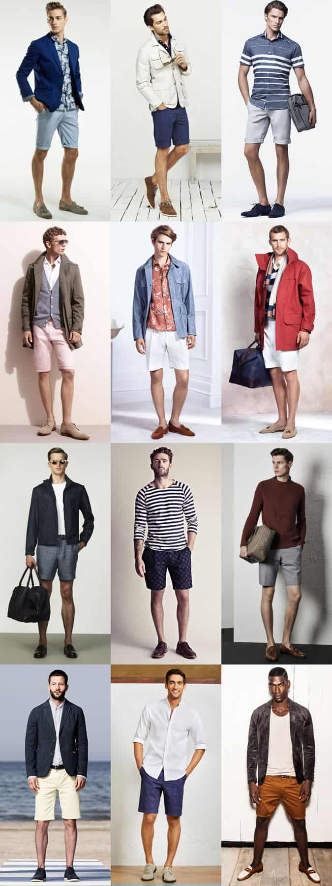 Men's Shoes with Shorts Outfit Inspiration Lookbook