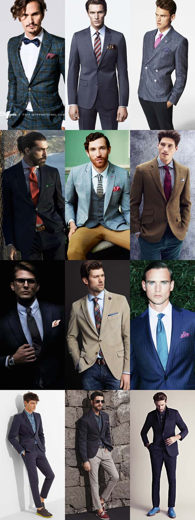 Men's Pocket Square and Tie Combinations Lookbook