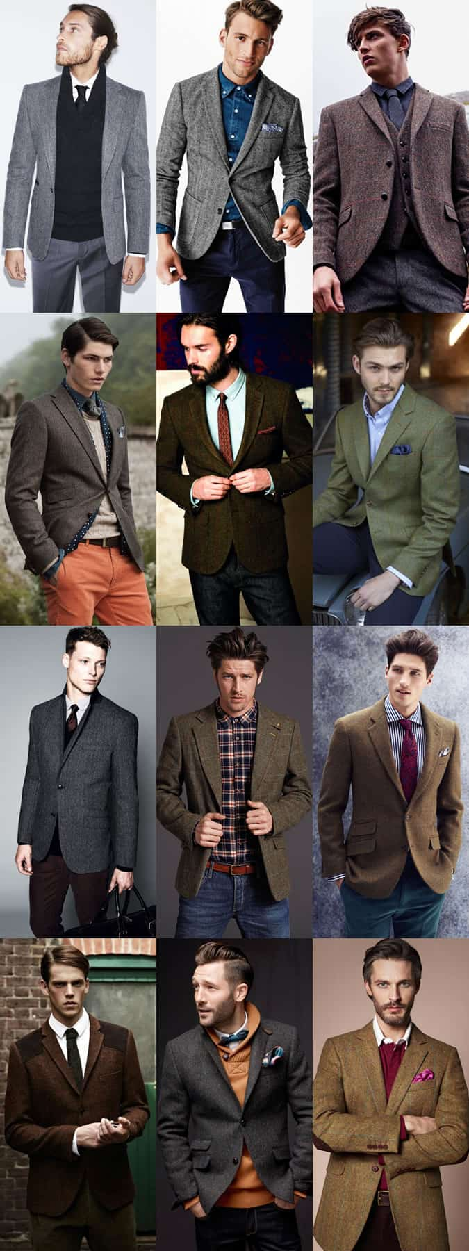 Men's Tweed Blazer Outfit Inspiration Lookbook