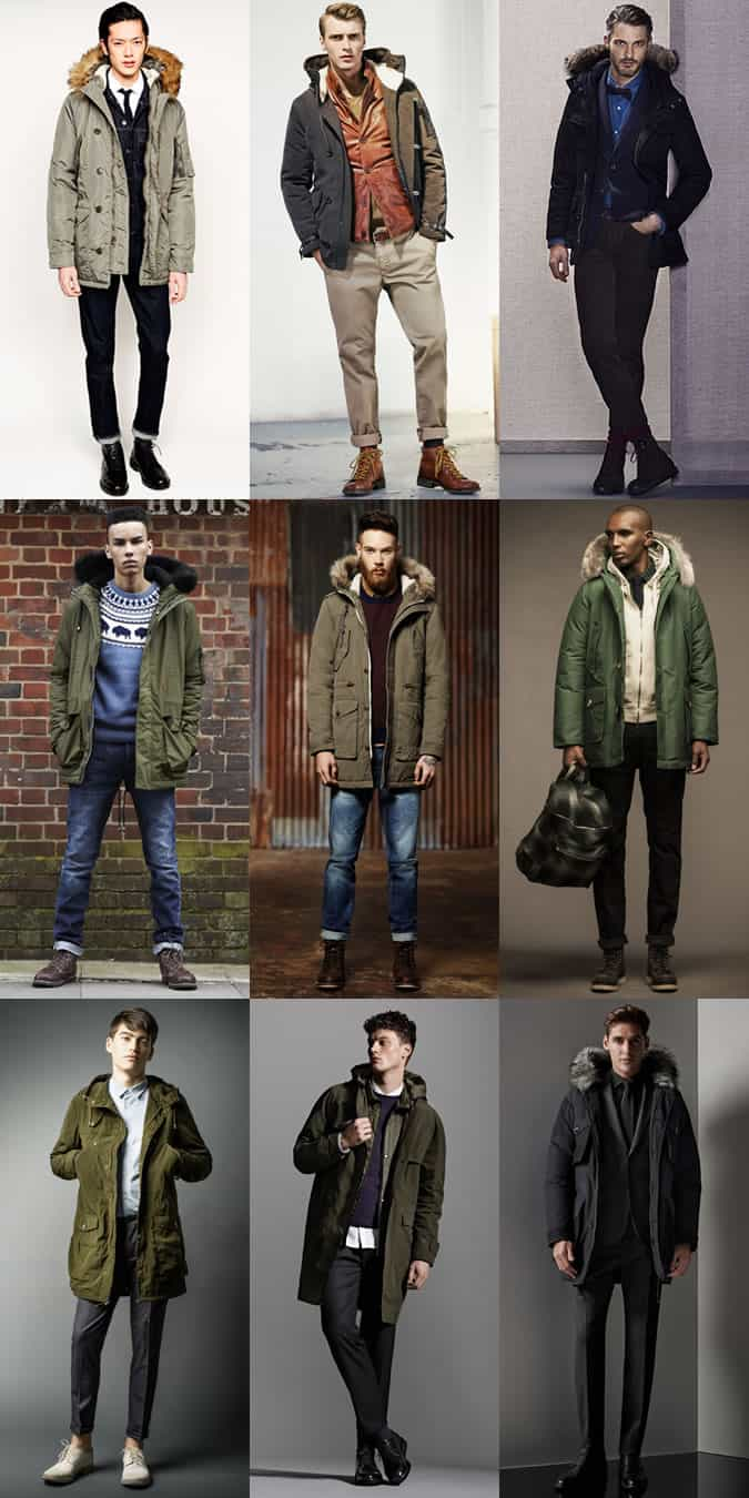 Men's Parka Jacket Outfit Inspiration Lookbook