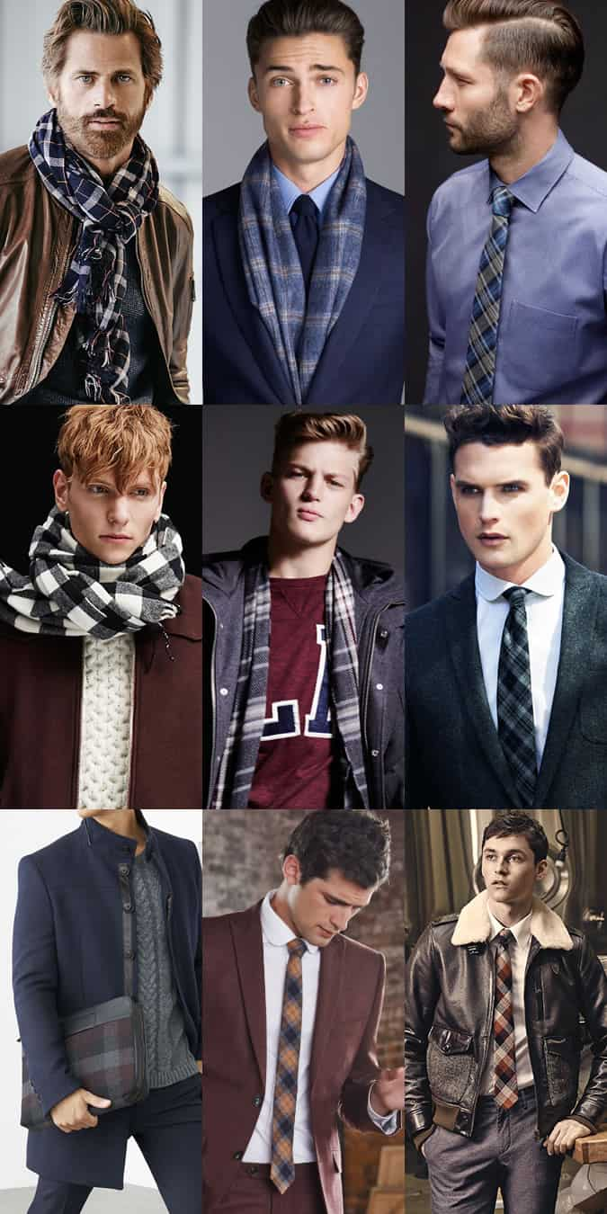 Men's Check and Tartan Accessories Outfit Inspiration Lookbook