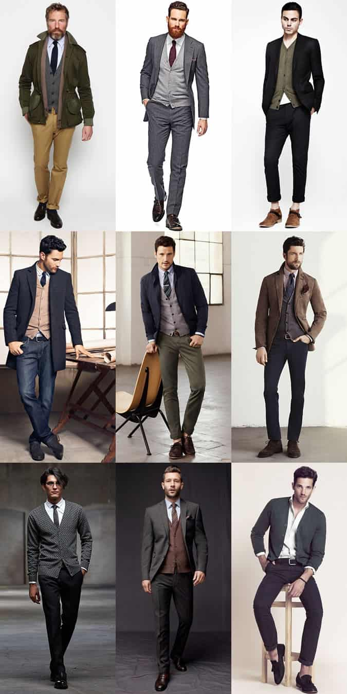 Men's Merino Wool Cardigans Outfit Inspiration Lookbook