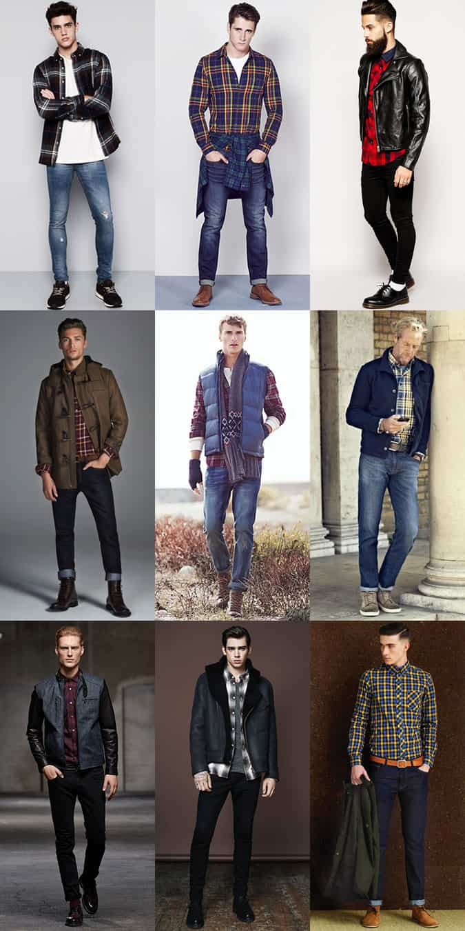 Men's Check Shirts - Casual Outfit Inspiration Lookbook
