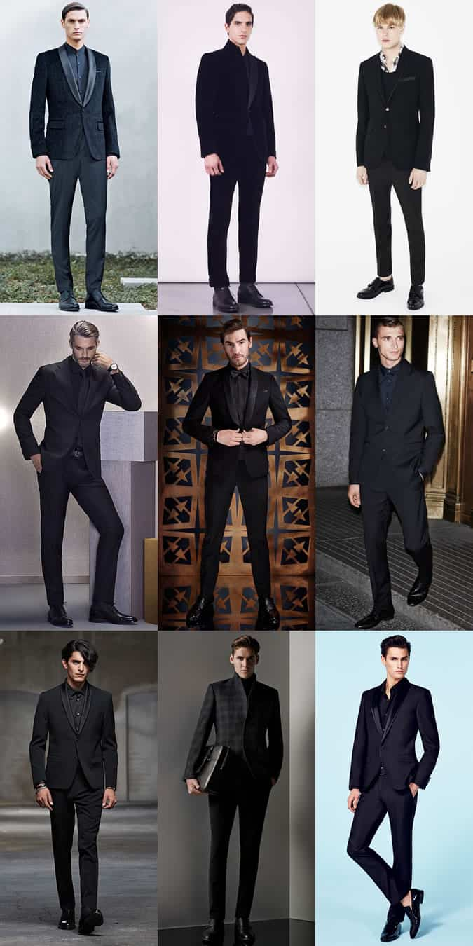 Men's All-Black Evening And Party Wear Outfit Inspiration Lookbook