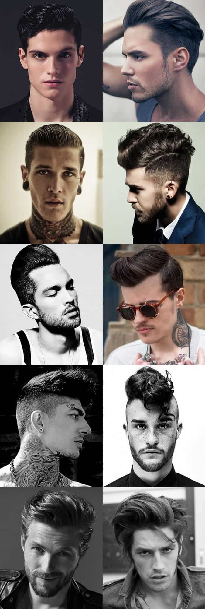 Men's Modern Rockabilly-Inspired Hairstyles
