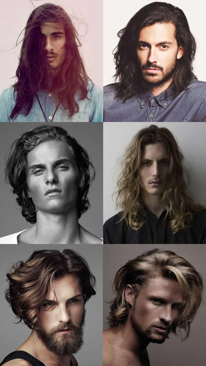 Men's Natural Looking Long Hairstyles