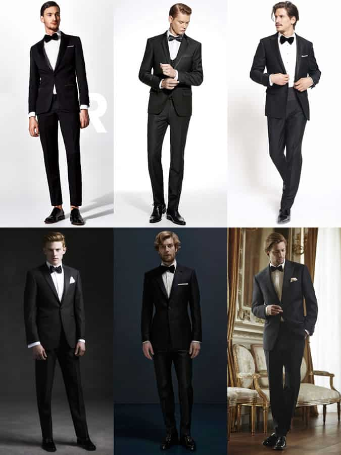 Men's Black Suits With Formal Bow Ties Outfit Inspiration Lookbook