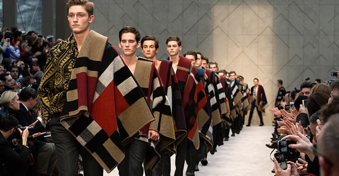 The Manket On The Burberry Runways