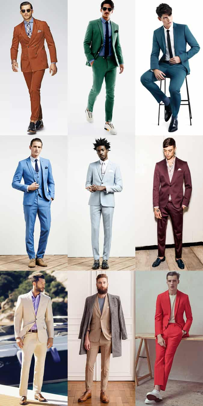 Men's Alternative Suit Colours Outfit Inspiration Lookbook
