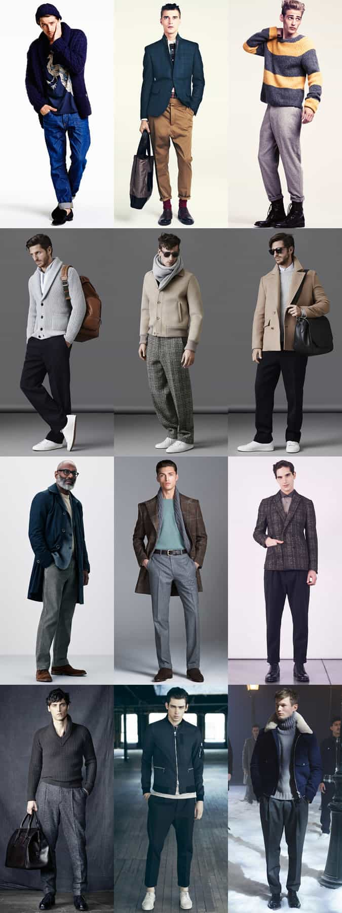 Men's Wide-Legged/Relaxed Trousers Outfit Inspiration Lookbook