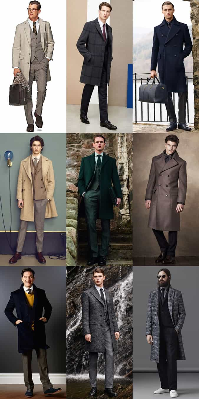 Men's Overcoat Outfit Inspiration Lookbook - Smart and Formal Attire