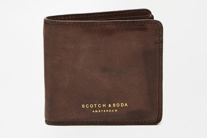 Scotch & Soda Leather Billfold Wallet