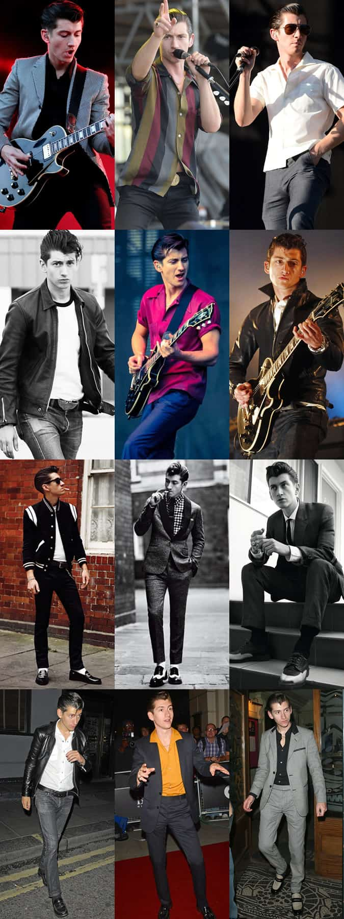 Alex Turner Personal Style Lookbook