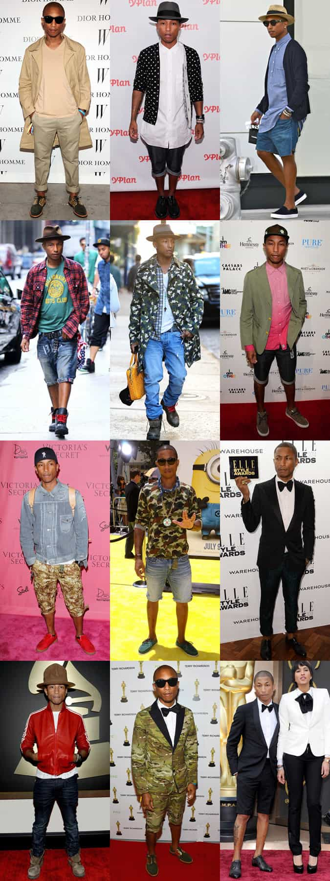 Pharrell Williams Personal Style Lookbook