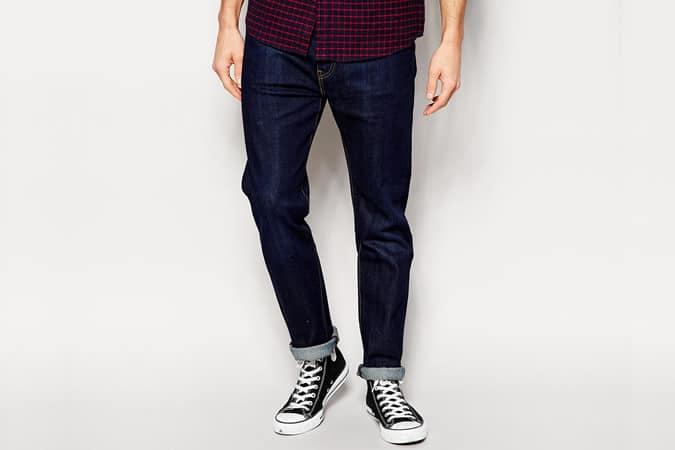 Levi's Jeans 522 Slim Tapered Fit Selvedge Virginia Range Dark Wash