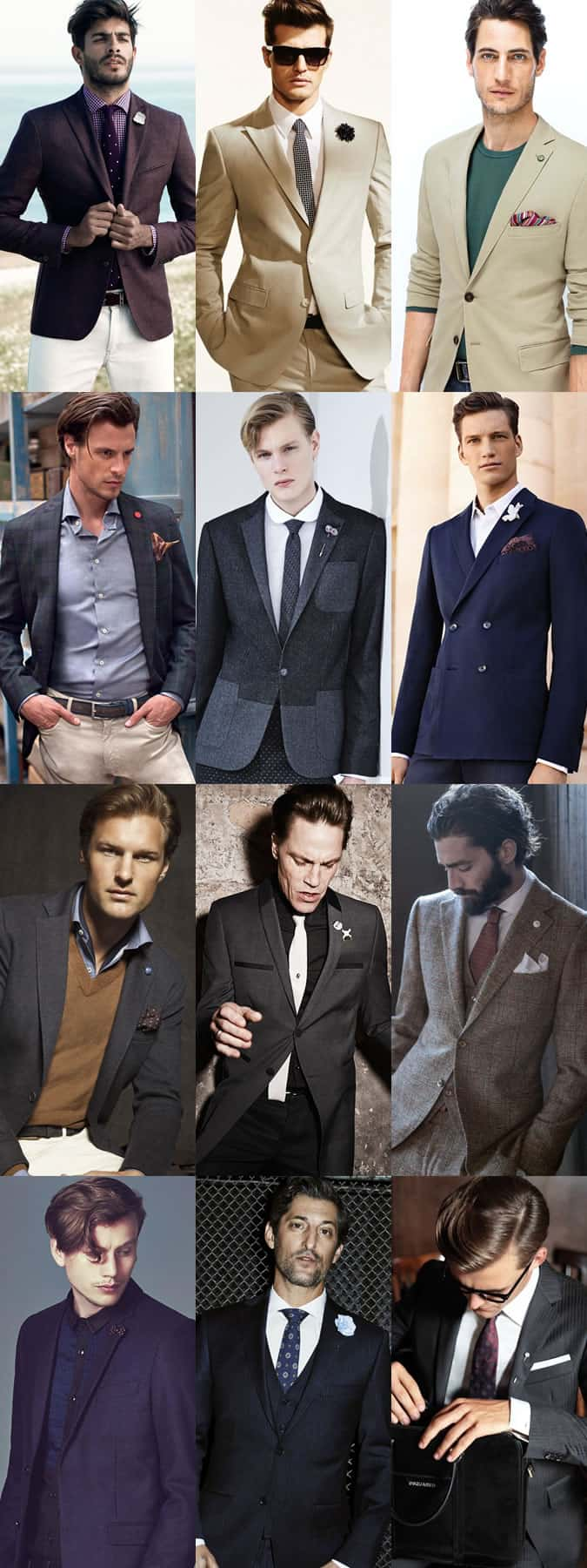 Men's Badges, Tie Pins and Lapel Pins Outfit Inspiration Lookbook