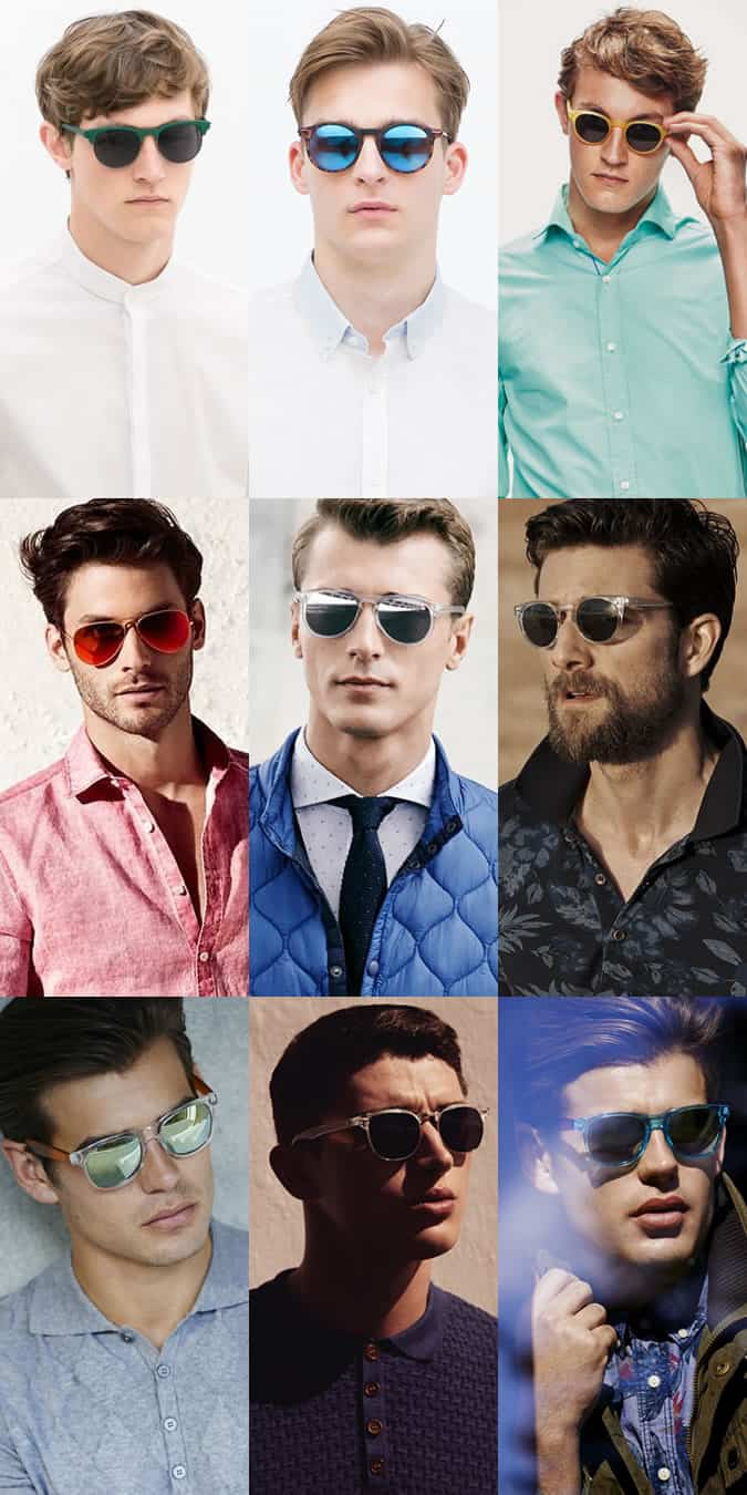 Men's Coloured Frames And Lens Sunglasses Lookbook: Spring/Summer 2015