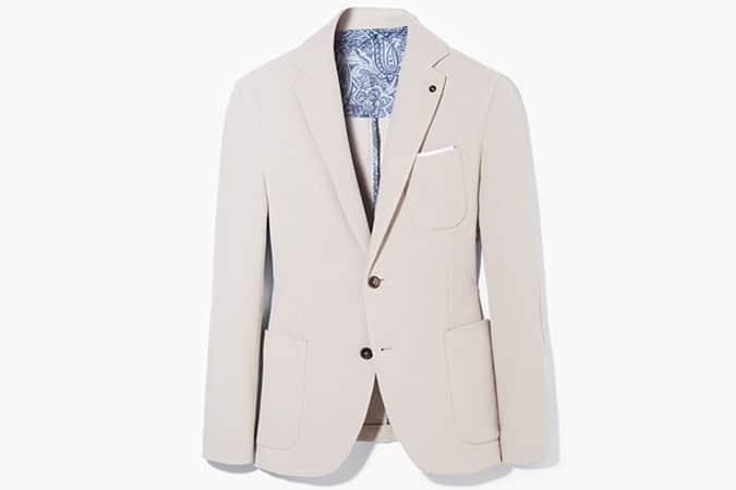 Mango Elbow Patch Jersey Blazer