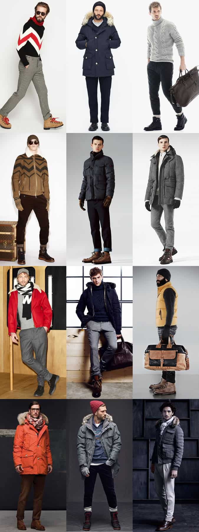 Men's Ski Holiday and Apres-Ski Outfit Inspiration Lookbook