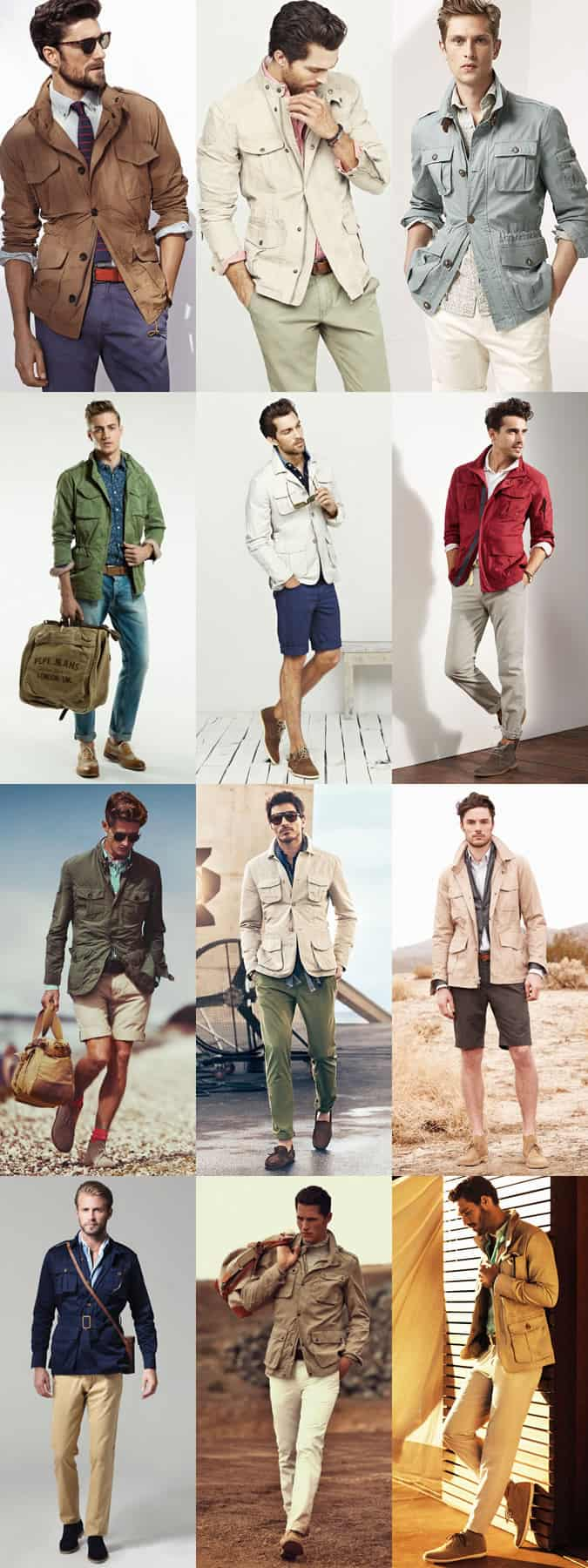 Men's Safari Jacket Outfit Inspiration Lookbook