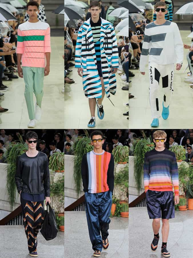 Statement Stripes On The Kenzo and Paul Smith SS15 Menswear Runway