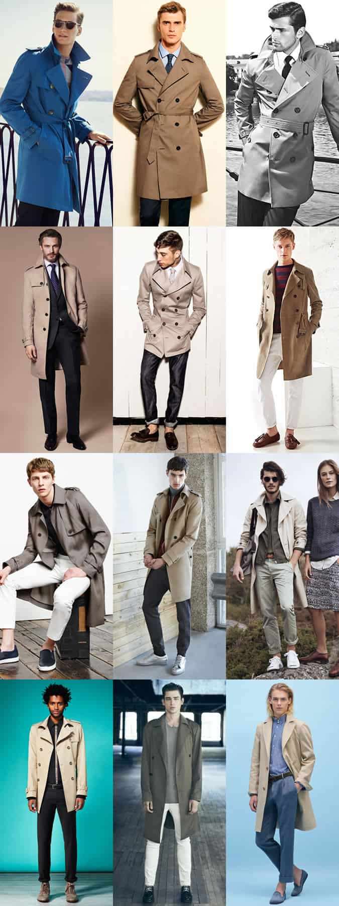 Men's Trench Coats Outfit Inspiration Lookbook
