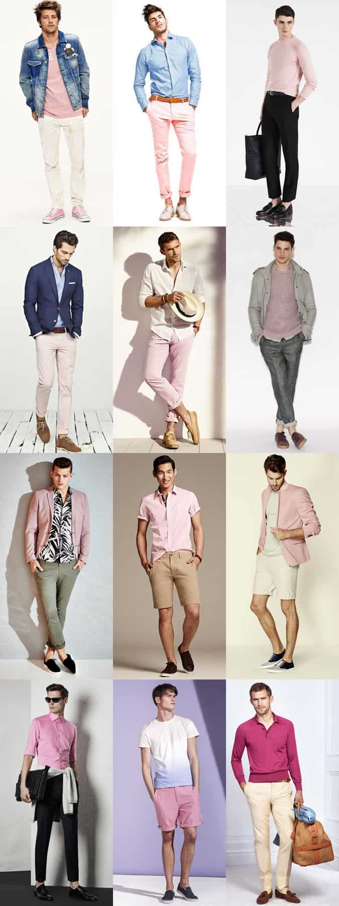 Men's Pink Clothing Outfit Inspiration Lookbook