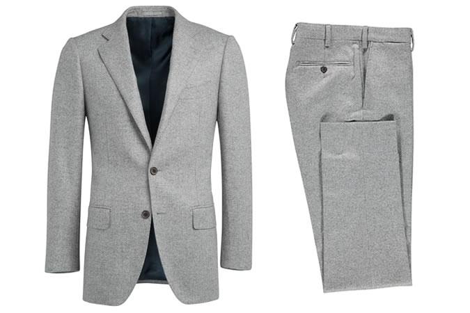 Suitsupply Lazio Light Grey Plain Suit