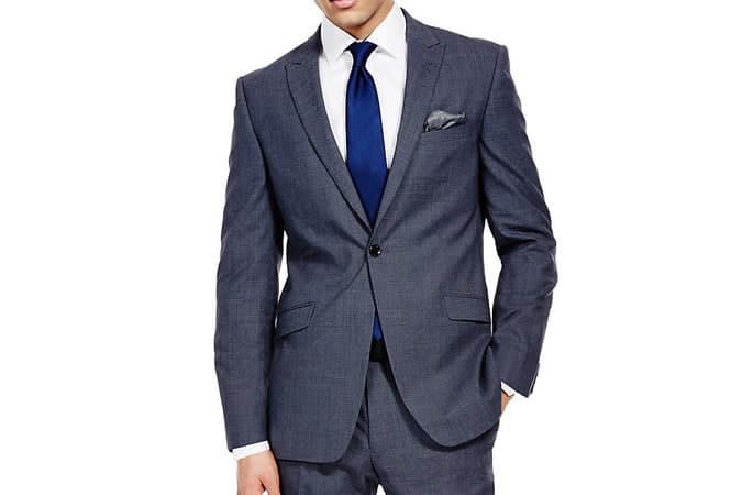 M&S Autograph Blue Slim Fit Suit