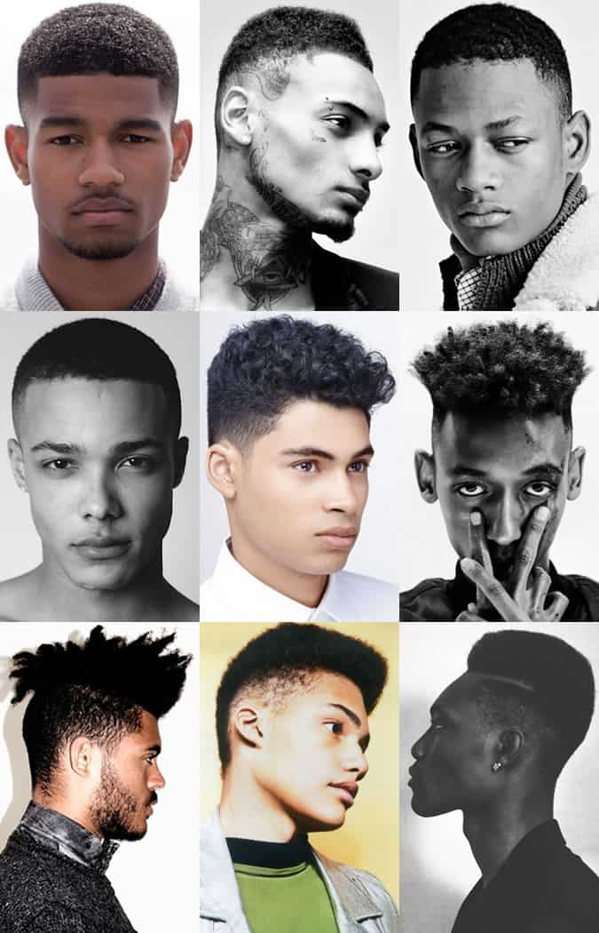 Men's Afro and Black Hairstyles - Disconnected Sides