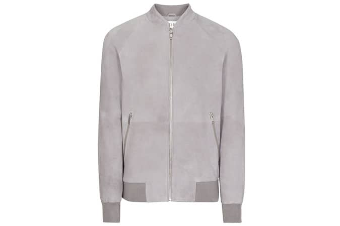 Reiss Toulon Suede Bomber Jacket