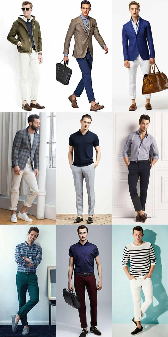 Men's Sockless and Ankle-Baring Outfit Inspiration Lookbook