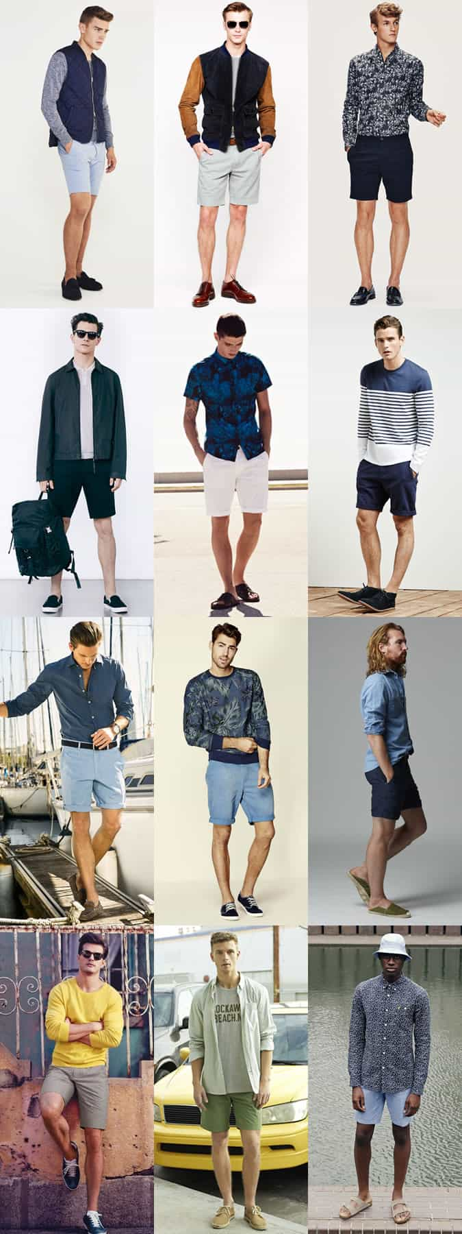 Men's Plain and neutral shorts outfit inspiration lookbook