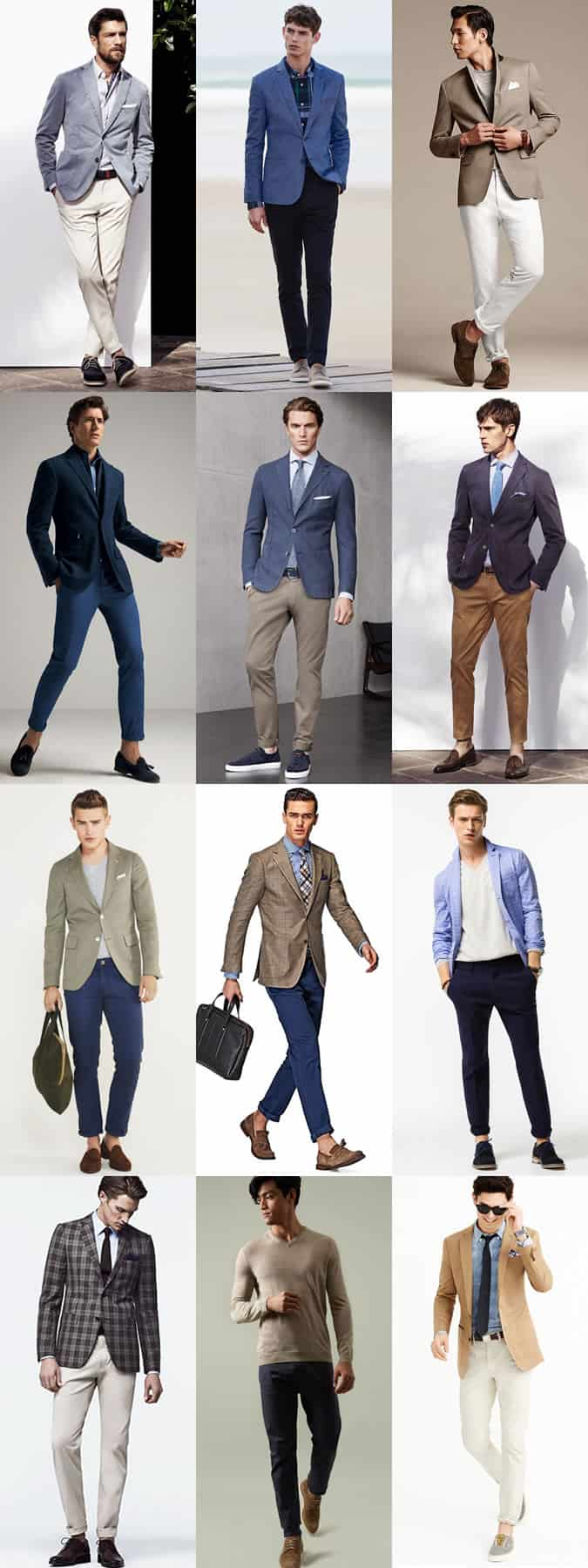 Men's Smart-Casual Chinos Outfit Inspiration Lookbook