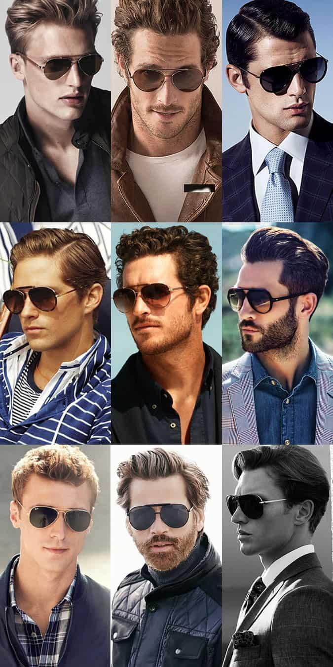 Men's Aviator Sunglasses Lookbook