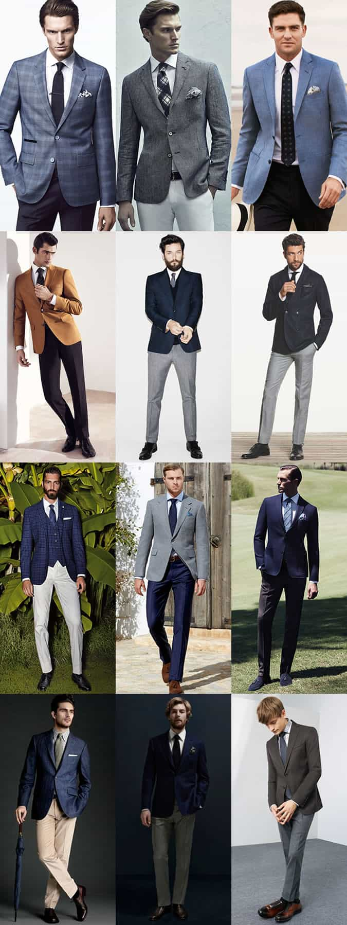 Men's Groom Wedding Outfit Inspiration Lookbook - Smart-Casual and Suit Separates