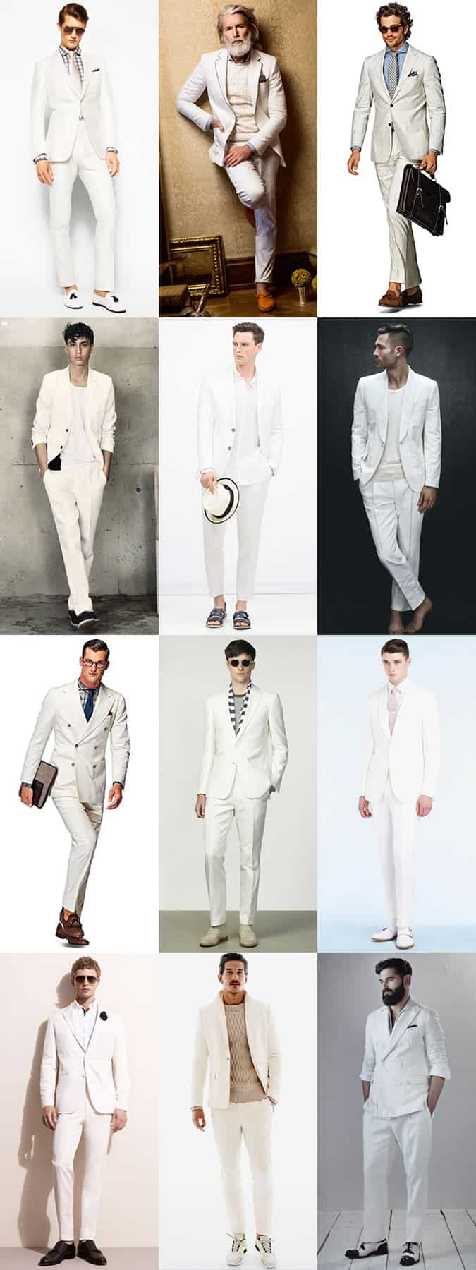 Men's White Suits Outfit Inspiration Lookbook