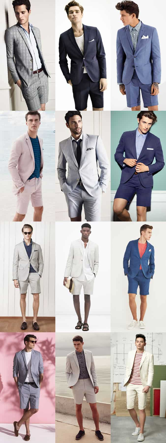 Men's Shorts Suits - Spring/Summer Outfit Inspiration Lookbook