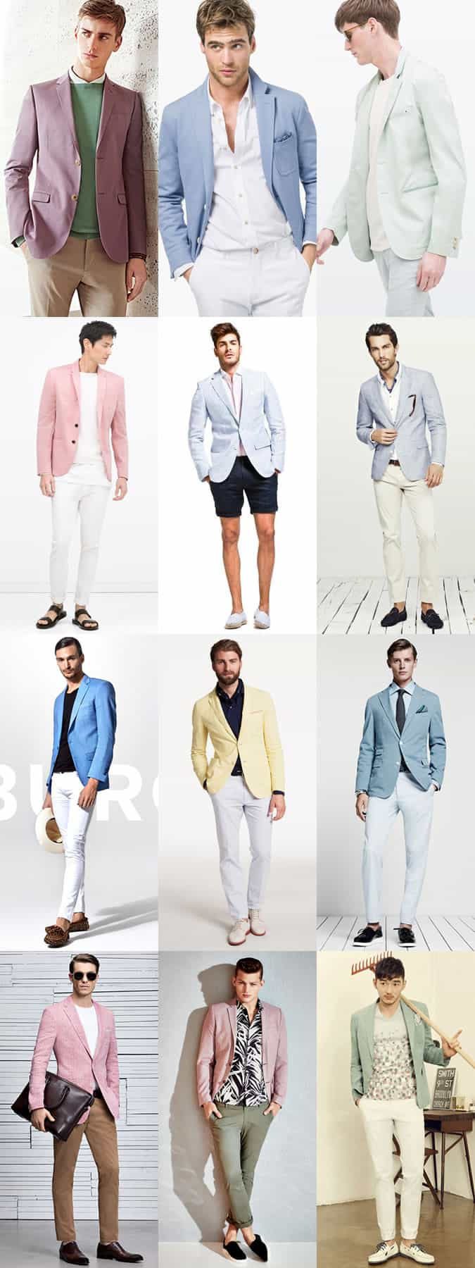 Men's Pastel Blazers Outfit Inspiration Lookbook