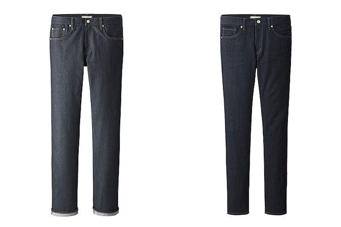 Men's Uniqlo Selvedge & Miracle Air Jeans