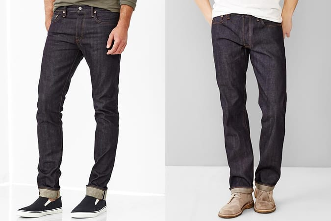 Men's Gap Selvedge & Raw Denim Jeans