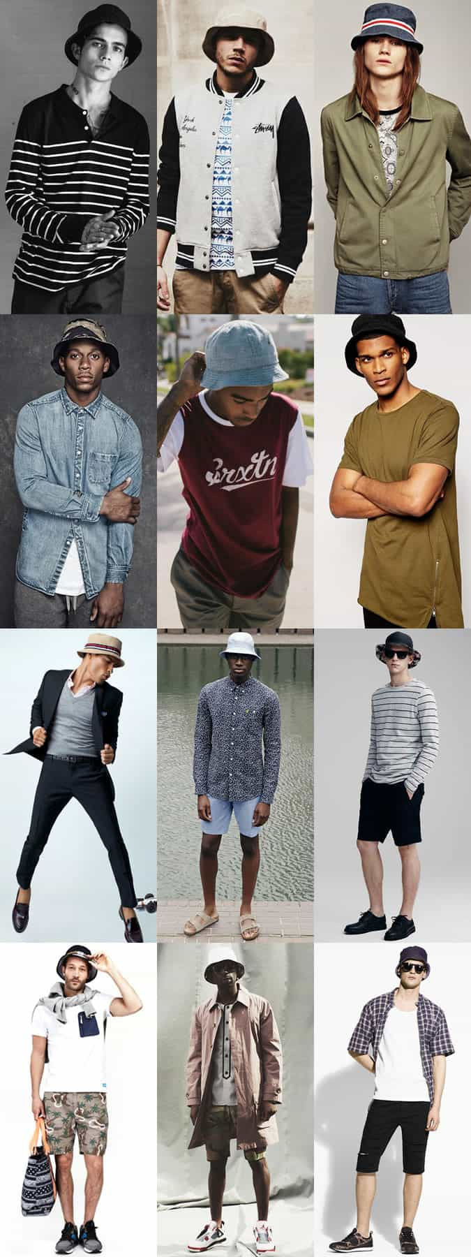 Men's Bucket Hat Outfit Inspiration Lookbook
