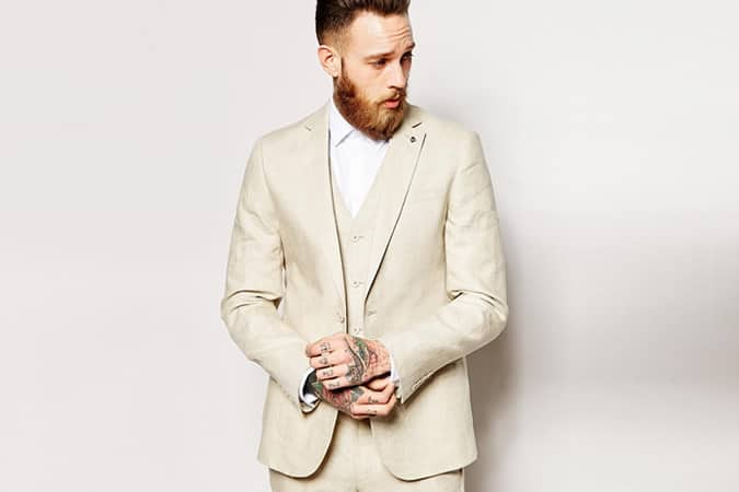 ASOS Slim Fit Suit Jacket In 100% Linen