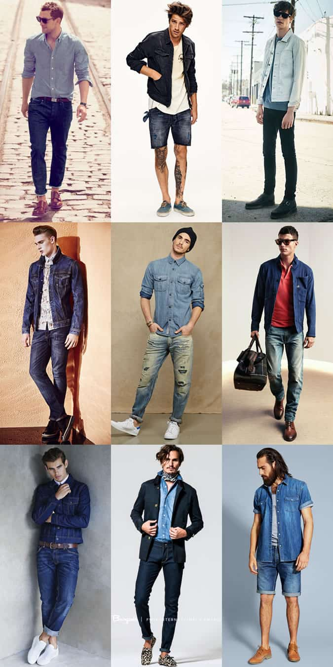 Men's Spring/Summer Outfit Inspiration Lookbook - Double Denim